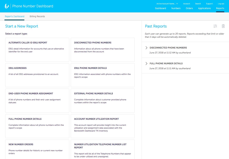 Bandwidth Software - Reports