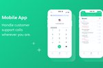 Channels screenshot: Mobile App - Handle customer calls no matter time and place.
