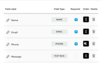 Rocketspark screenshot: Rocketspark custom forms