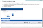 TimeLive screenshot: Timesheet Approval