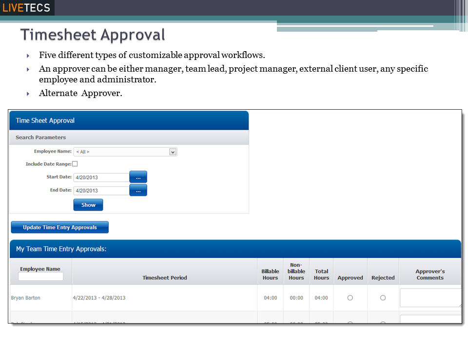 Timesheet Approval
