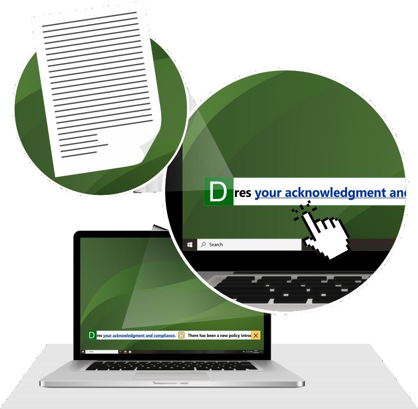 DeskAlerts Scrolling Ticker in use