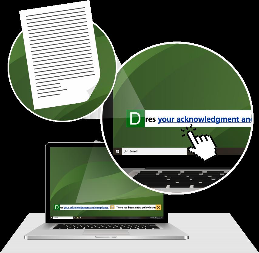 DeskAlerts Software - DeskAlerts Scrolling Ticker in use