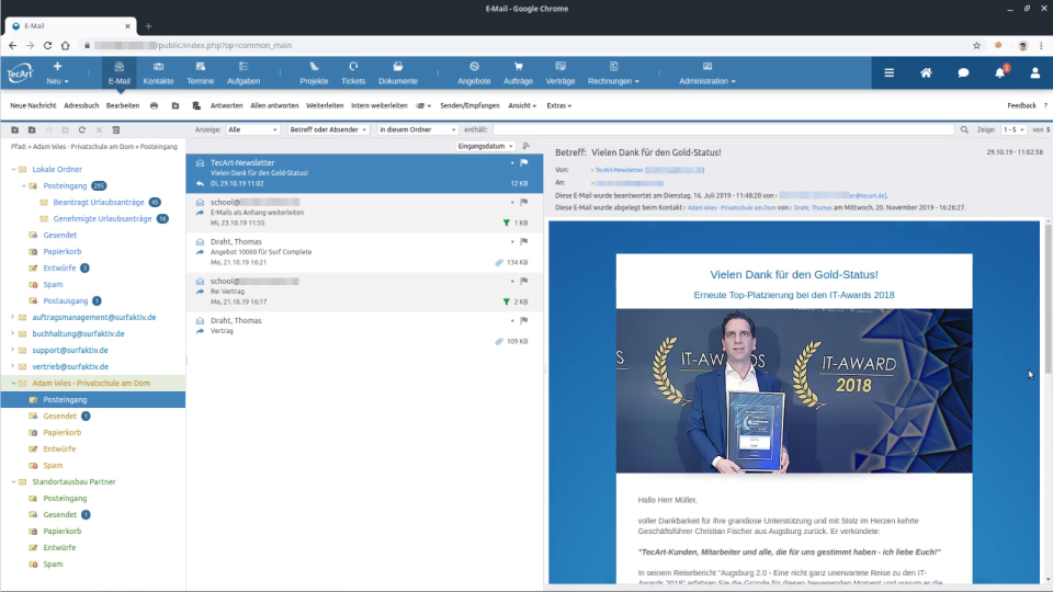 TecArt email client