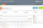 ProWorkflow screenshot: ProWorkflows's centralized project collaboration page