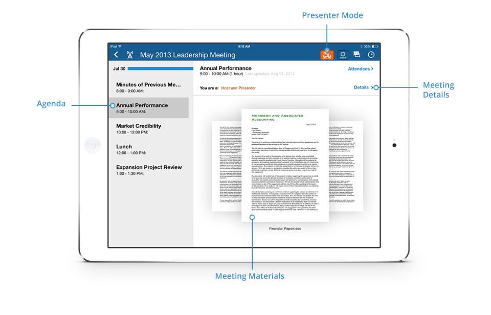 Nasdaq Boardvantage leadership meeting screenshot