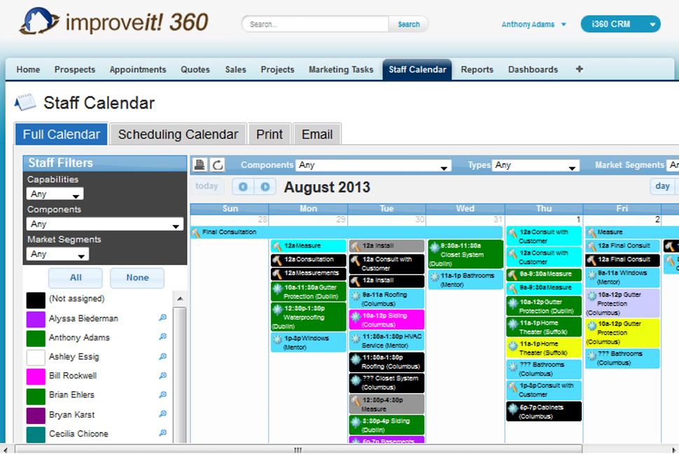 improveit 360 Staff Calendar