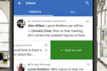 Yammer screenshot: Messaging in real time