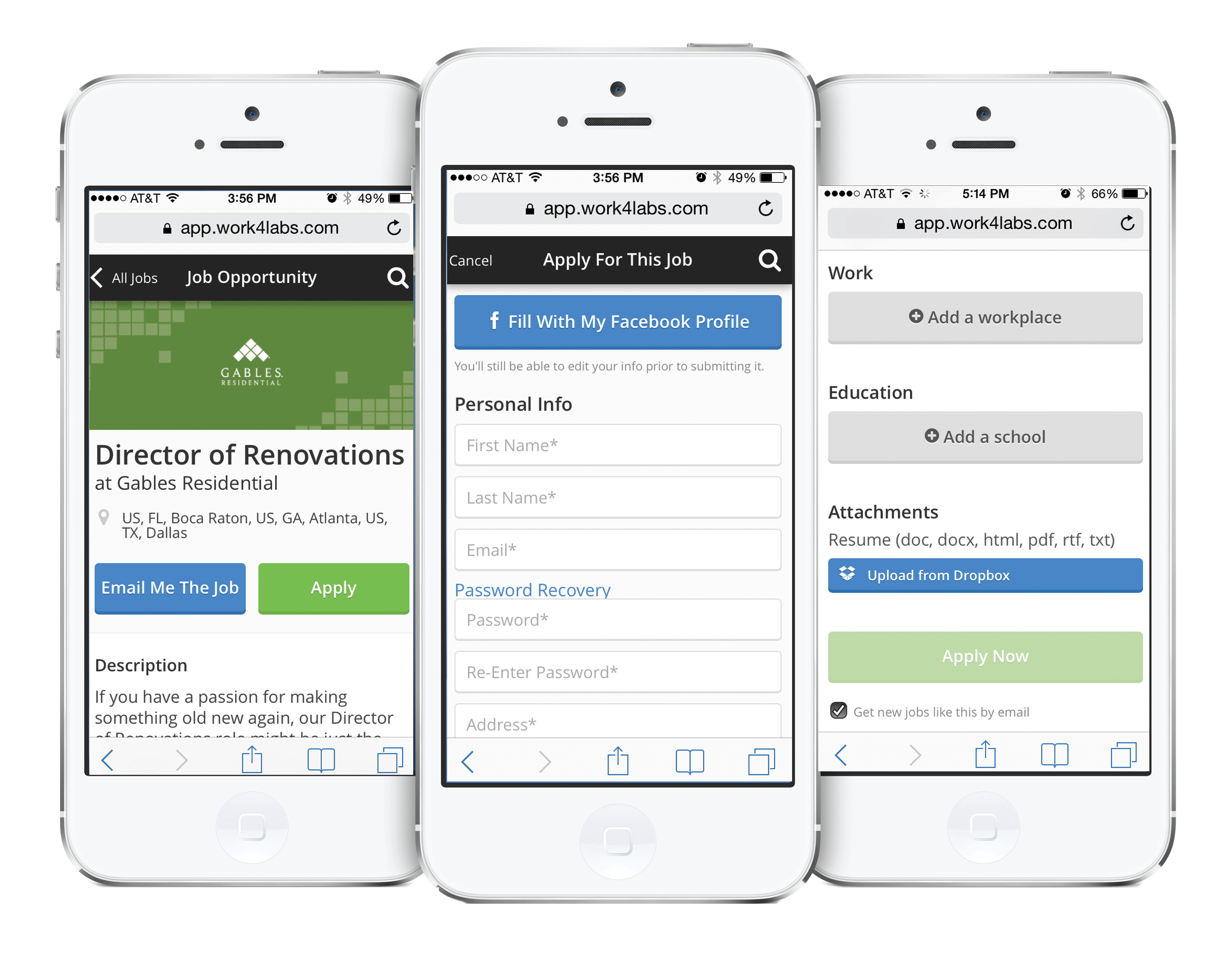 Work4 Software - Mobile application