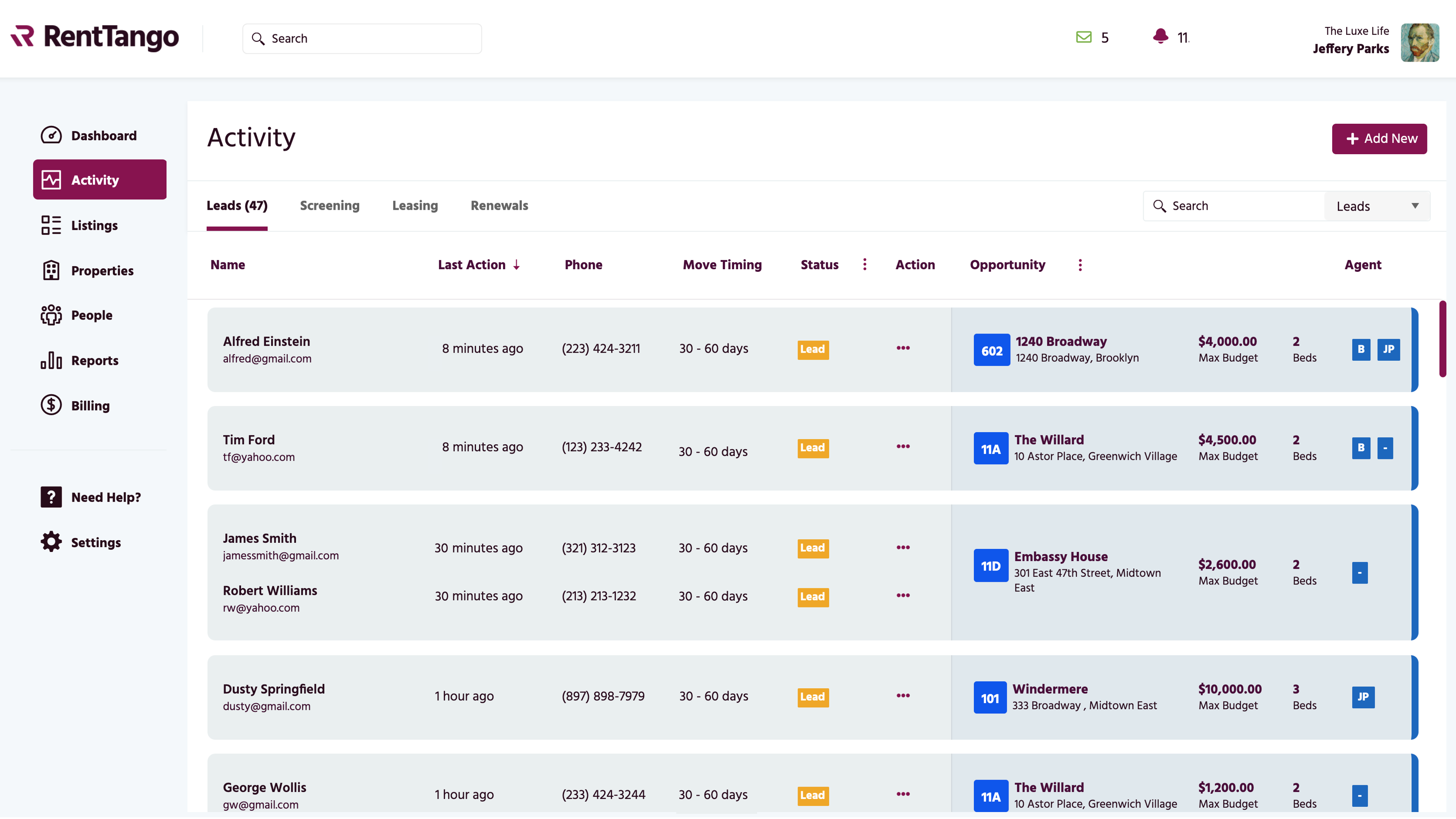 Manage leads efficiently with our CRM module