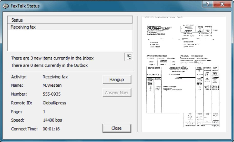 FaxTalk FaxCenter Pro Software - FaxTalk FaxCenter Pro status