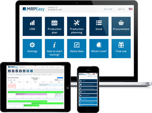 MRPEasy ERP is multi-browser and multi-device
