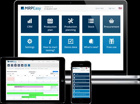 MRPEasy screenshot: MRPEasy ERP is multi-browser and multi-device