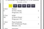 Capture d'écran pour AroFlo : Locate the closest suppliers using GPS