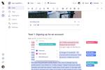 Dovetail screenshot: Dovetail user registration
