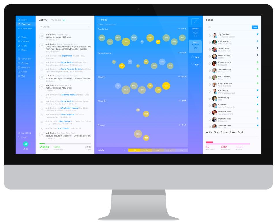 SalesSeek Software - Sales Executive Dashboard