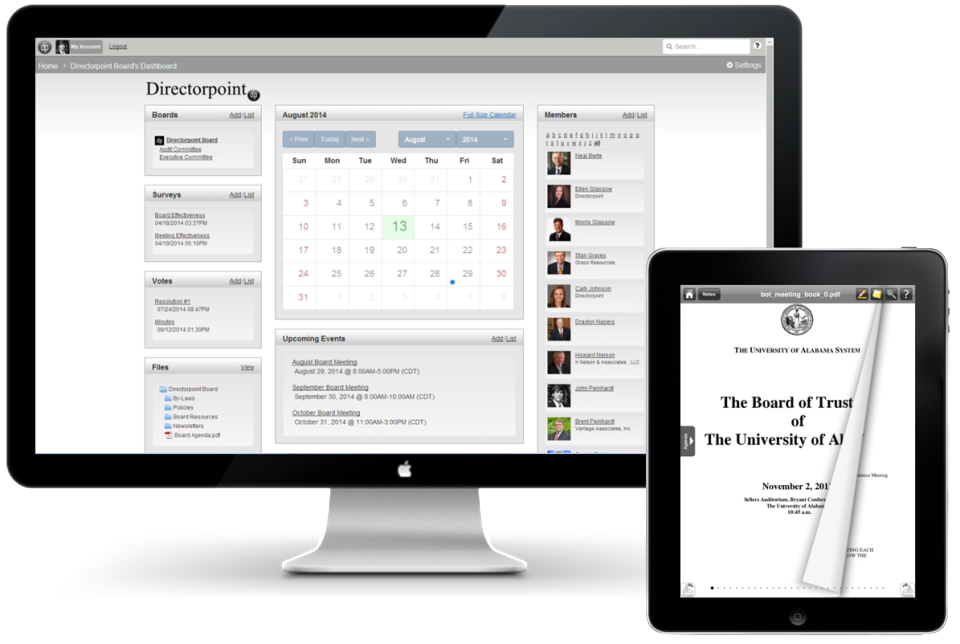 Directorpoint is optimized for use on desktop and tablet devices