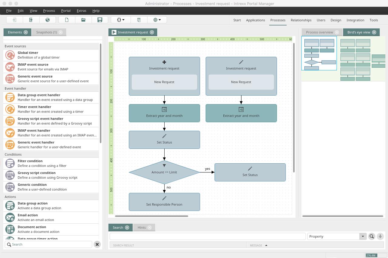 Intrexx workflow designer