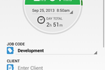 QuickBooks Time screenshot: Track time from any location, using any device, in real time