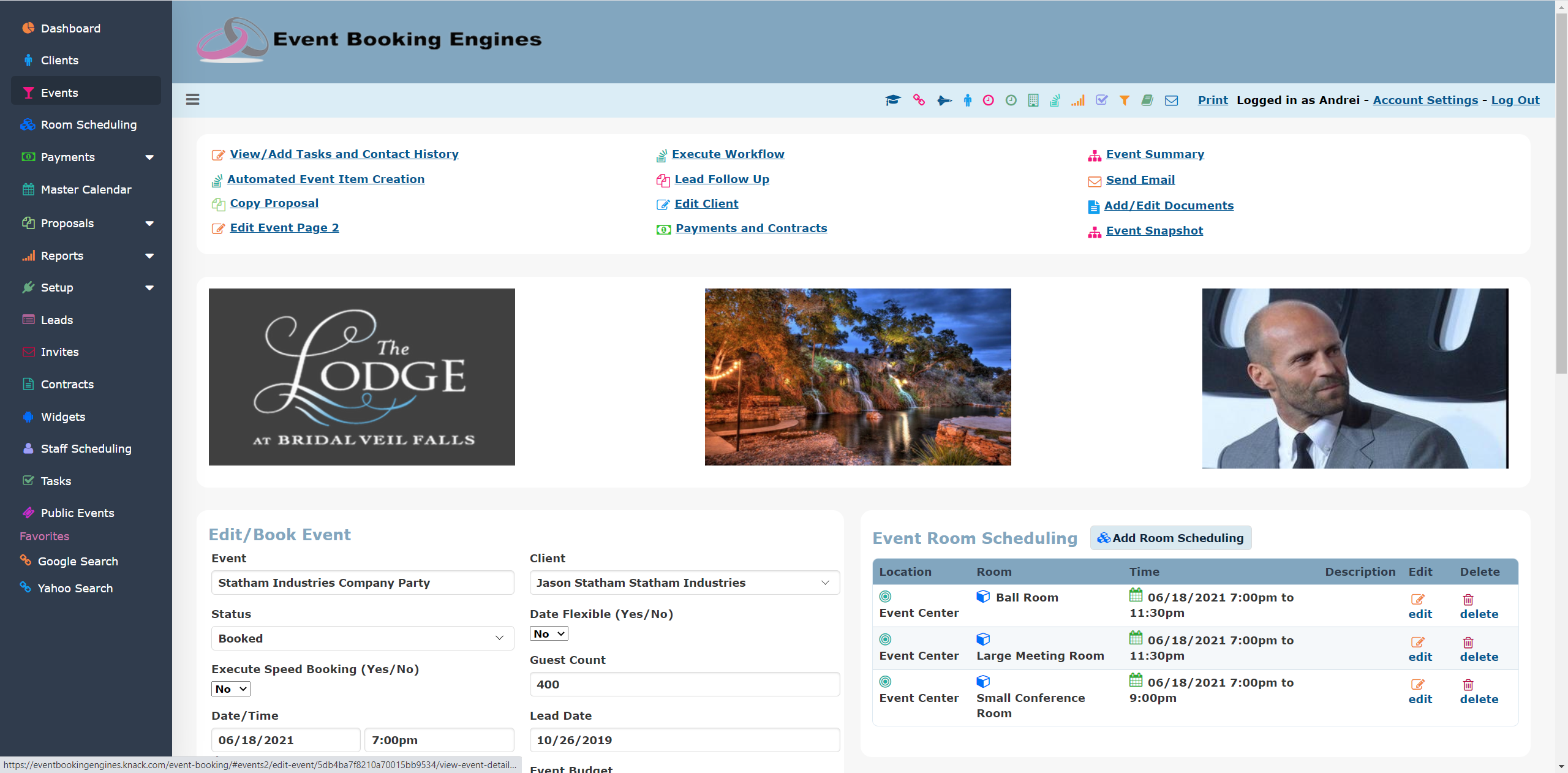 Event Booking Engines Software - Event Booking
