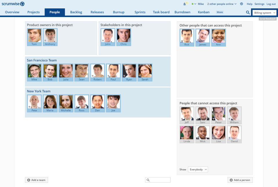 Scrumwise teams and roles