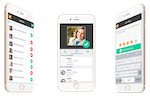 InitLive screenshot: Track your team from anywhere. InitLive's mobile app keeps you informed, updated, and connected to your team. Track hours worked based off check-in times, access personal schedules and enter private reviews on staff.