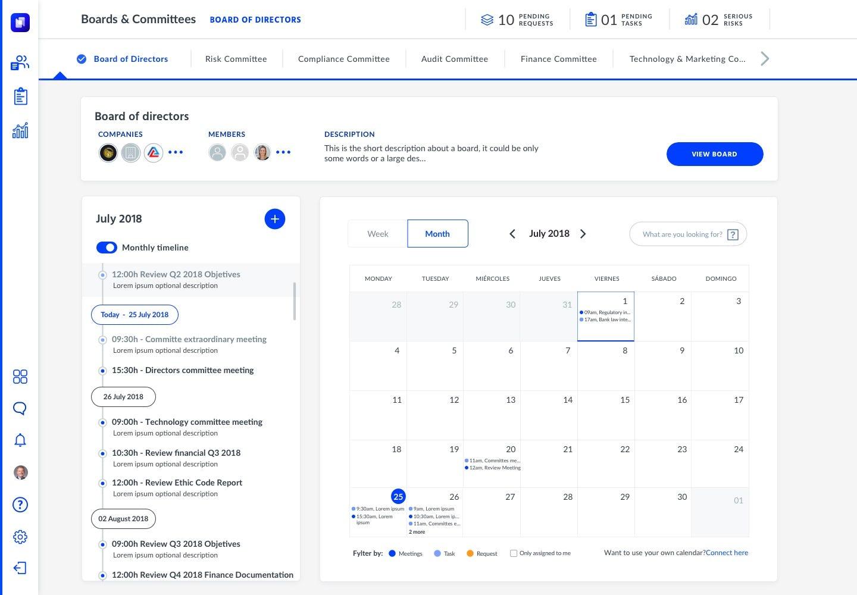Hetikus Software - Boards & Committees home page screenshot
