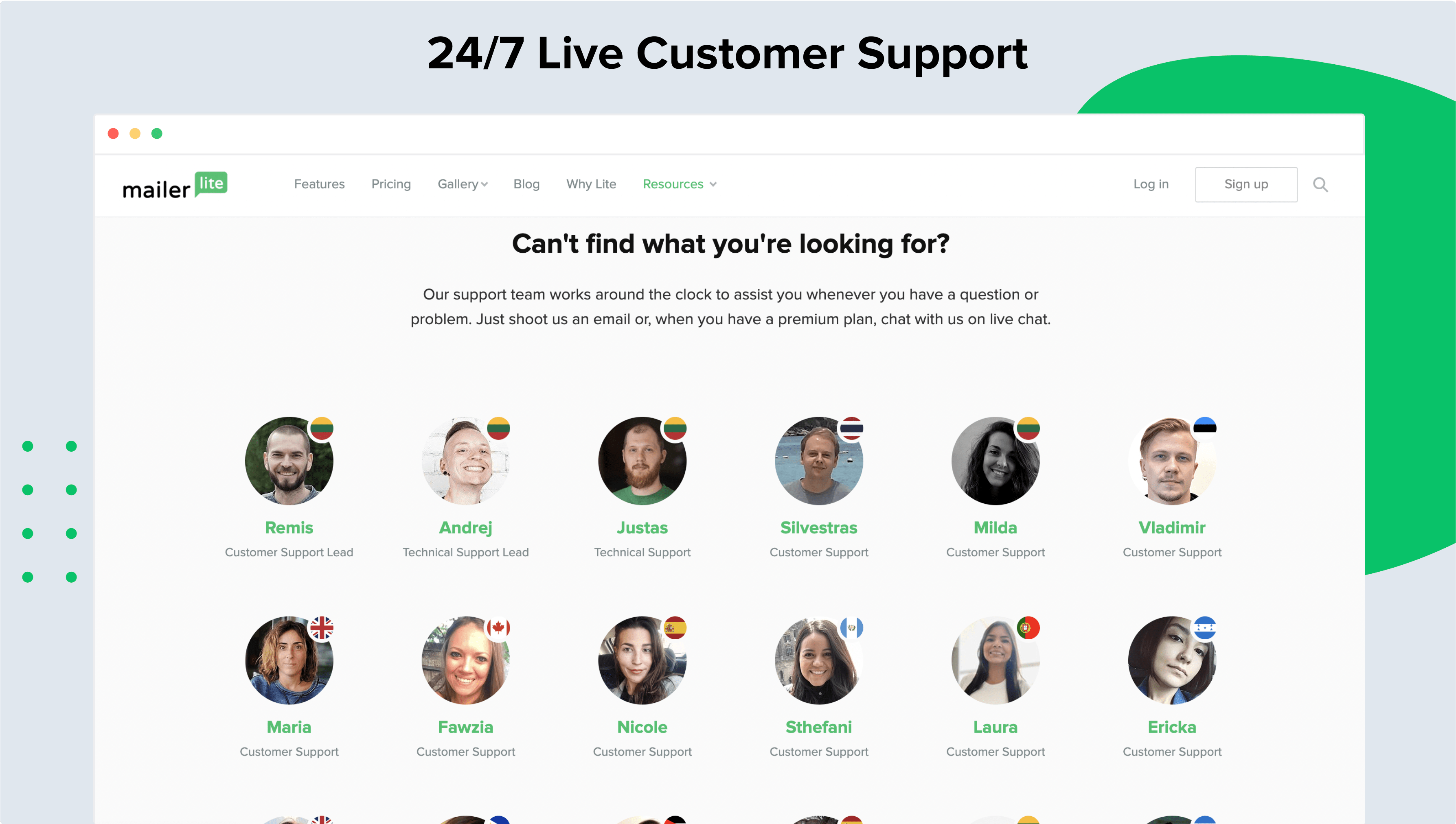24/7 Live Customer Support