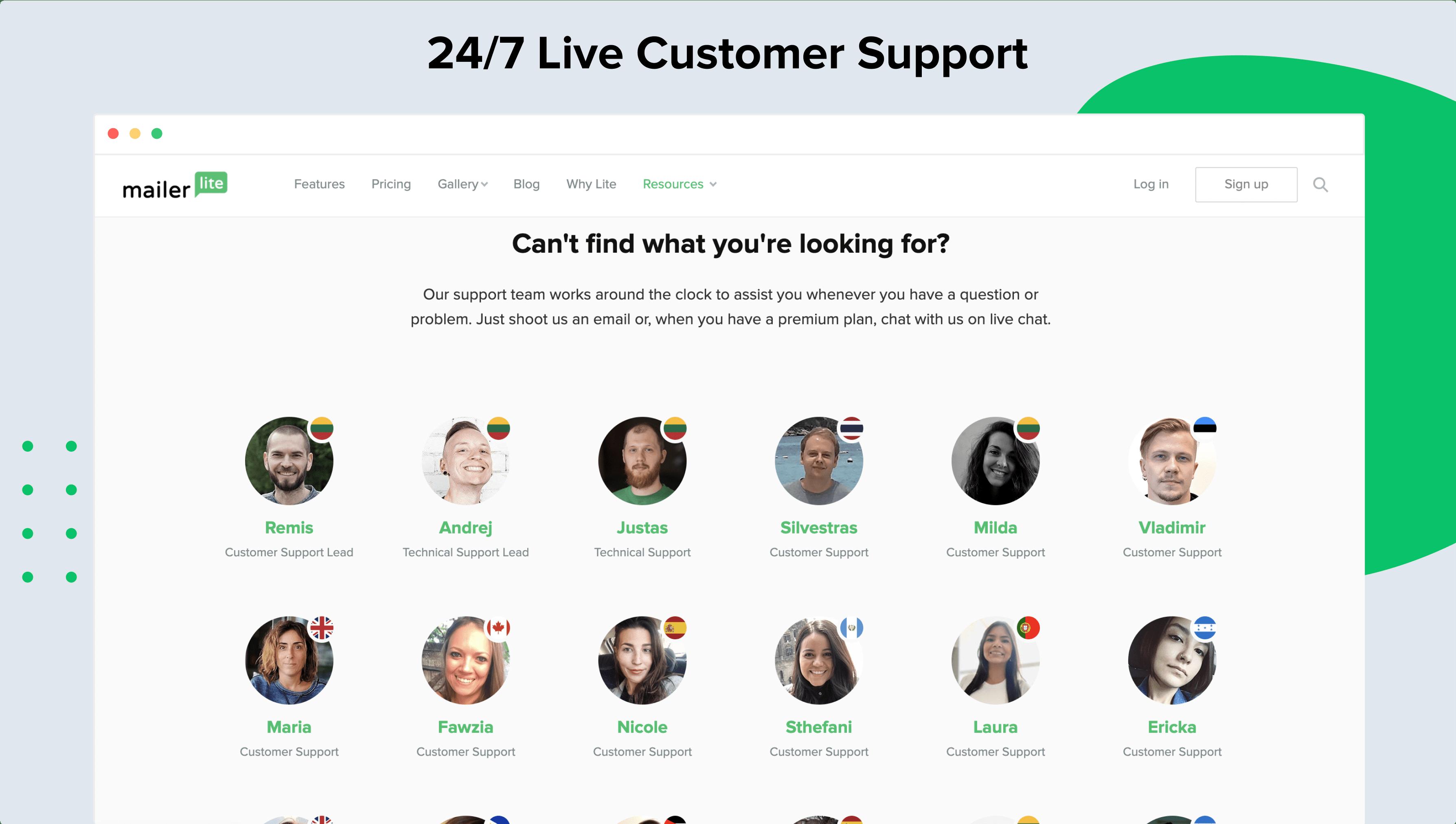 MailerLite Software - 24/7 Live Customer Support