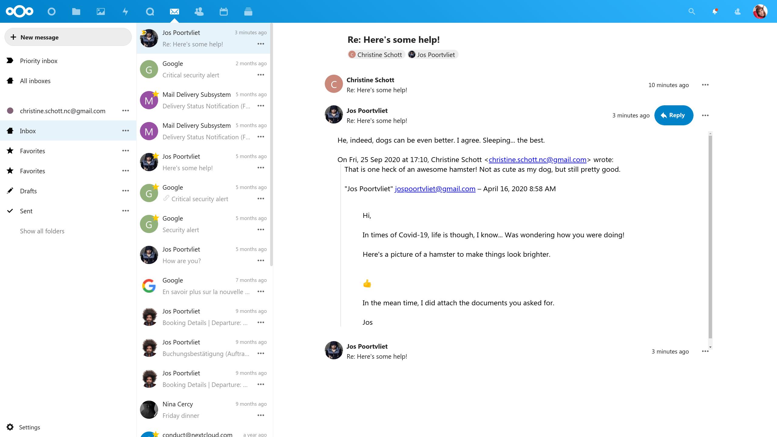 NextCloud inbox