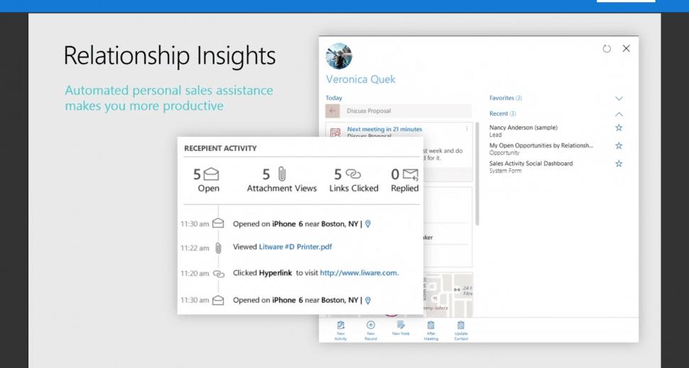 Microsoft Dynamics 365 relationship insights
