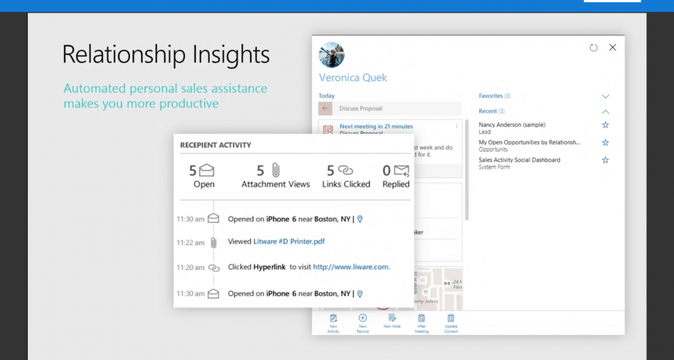 Dynamics 365 Software - Microsoft Dynamics 365 relationship insights