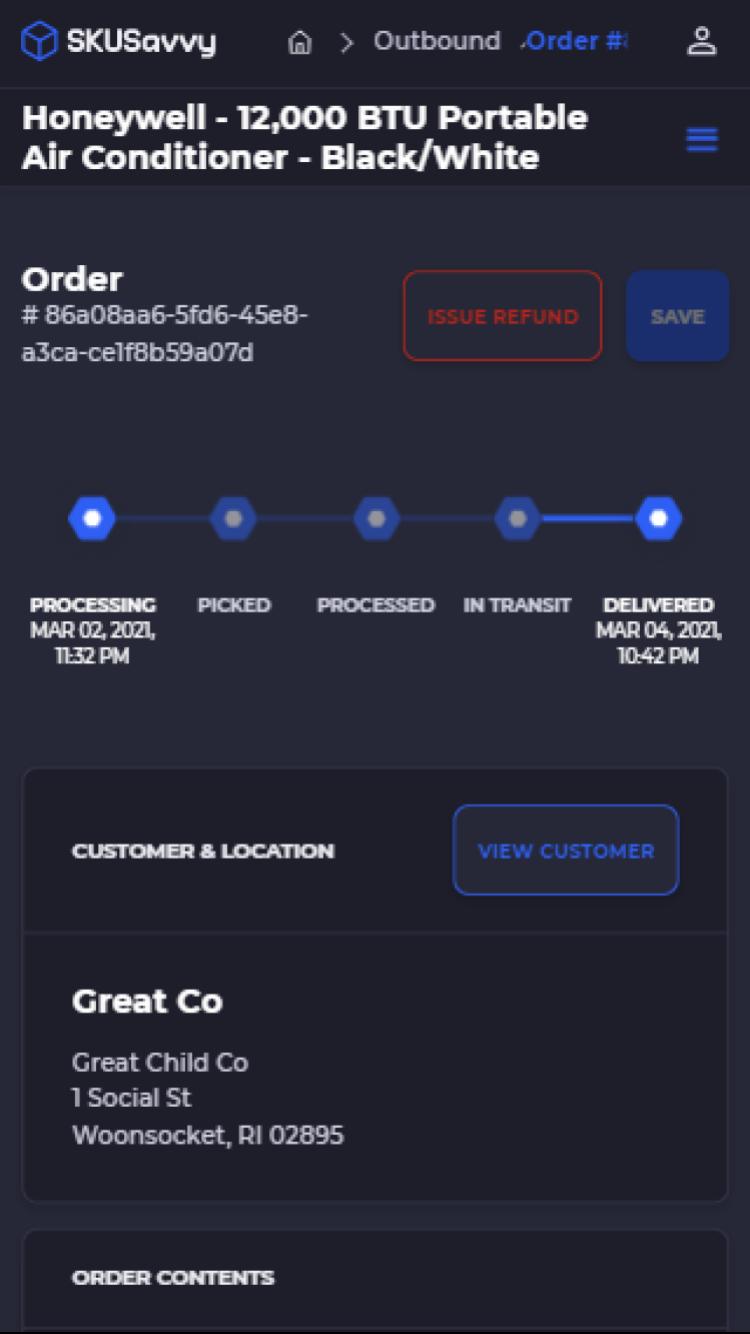 Mobile Order Management