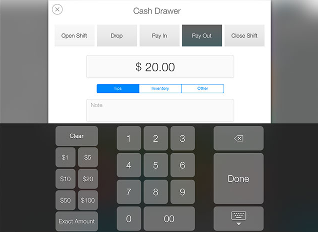 All transactions in and out of the cash drawer can be tracked
