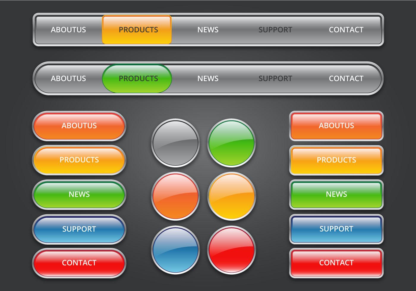 Vecteezy Editor web buttons vector