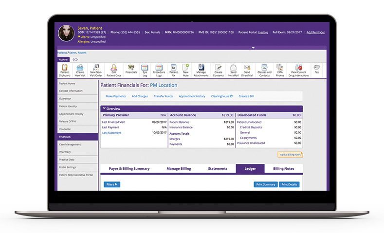 Using Practice Management, users can schedule appointments, access reports & manage documents & billing from a central location. It integrates directly with our EHR system, EMA.