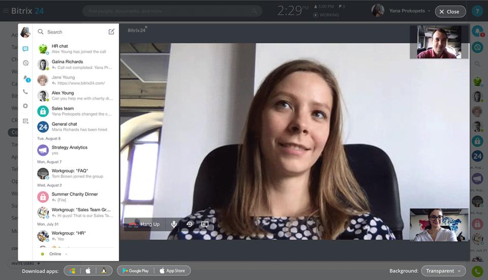 Bitrix24 Software - Bitrix24 video conferencing