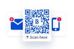 Blink screenshot: Phone and email free onboarding. Onboarding via SMS invites, paper handouts, QR codes, personal email, work email.