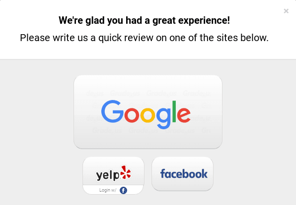 Customers can leave reviews on multiple platforms