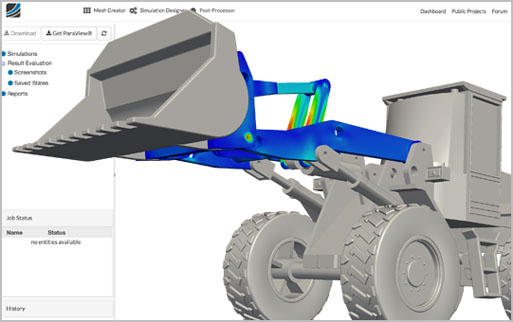 Finite Element Analysis (FEA) for performing stress analysis within the web browser