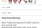 Regroup Mass Notification screenshot: Regroup Mass Notification alert description