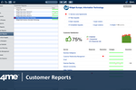 4me screenshot: Providers can see how well they are performing for each of their customers in real time.