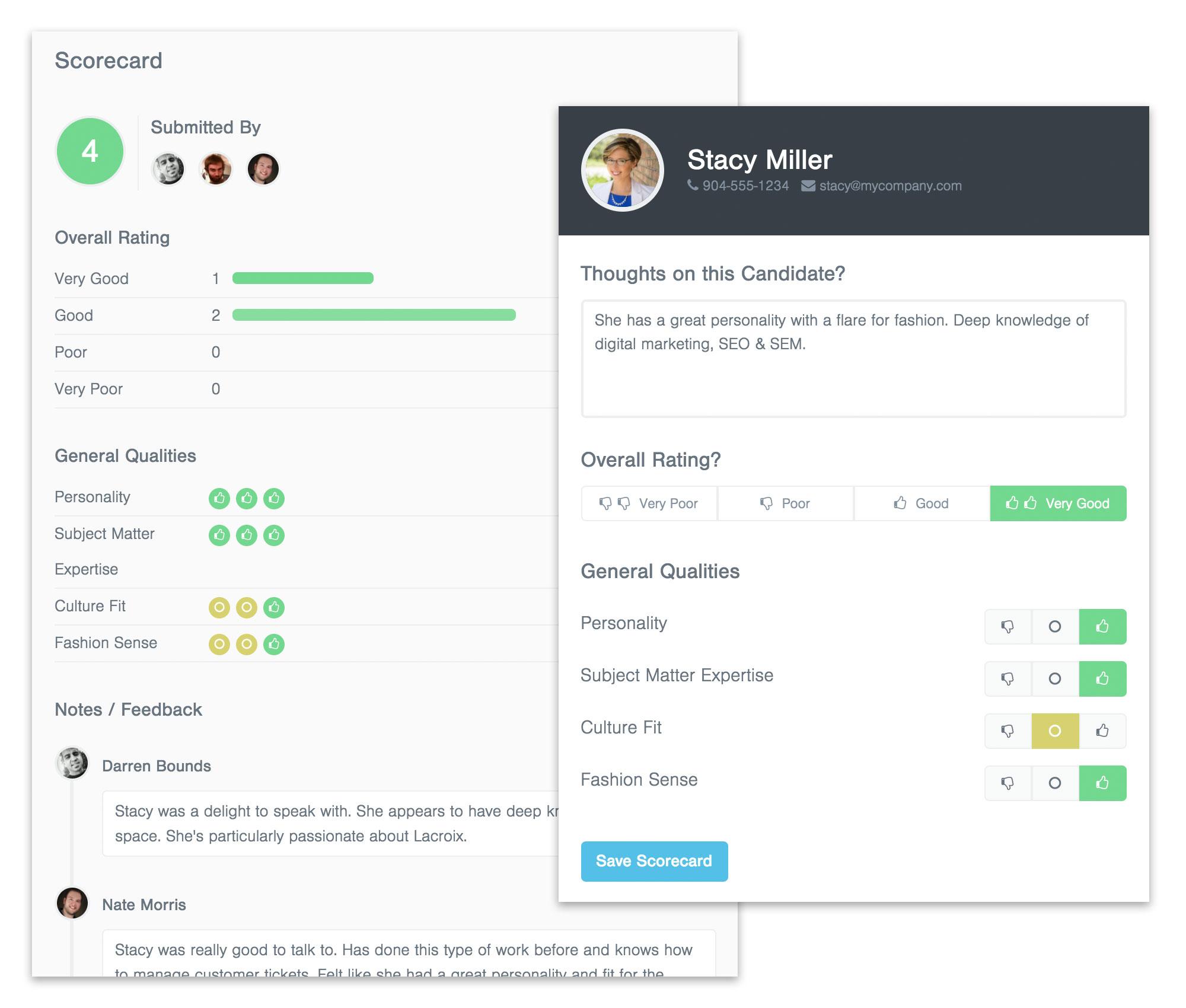 Breezy Software - Custom candidate scorecards