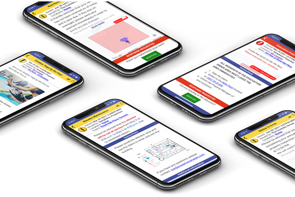 Easily notify people with enriched and personalized to them alerts that includes distance to incident, maps, visuals, critical attachments and Two-Way communication.