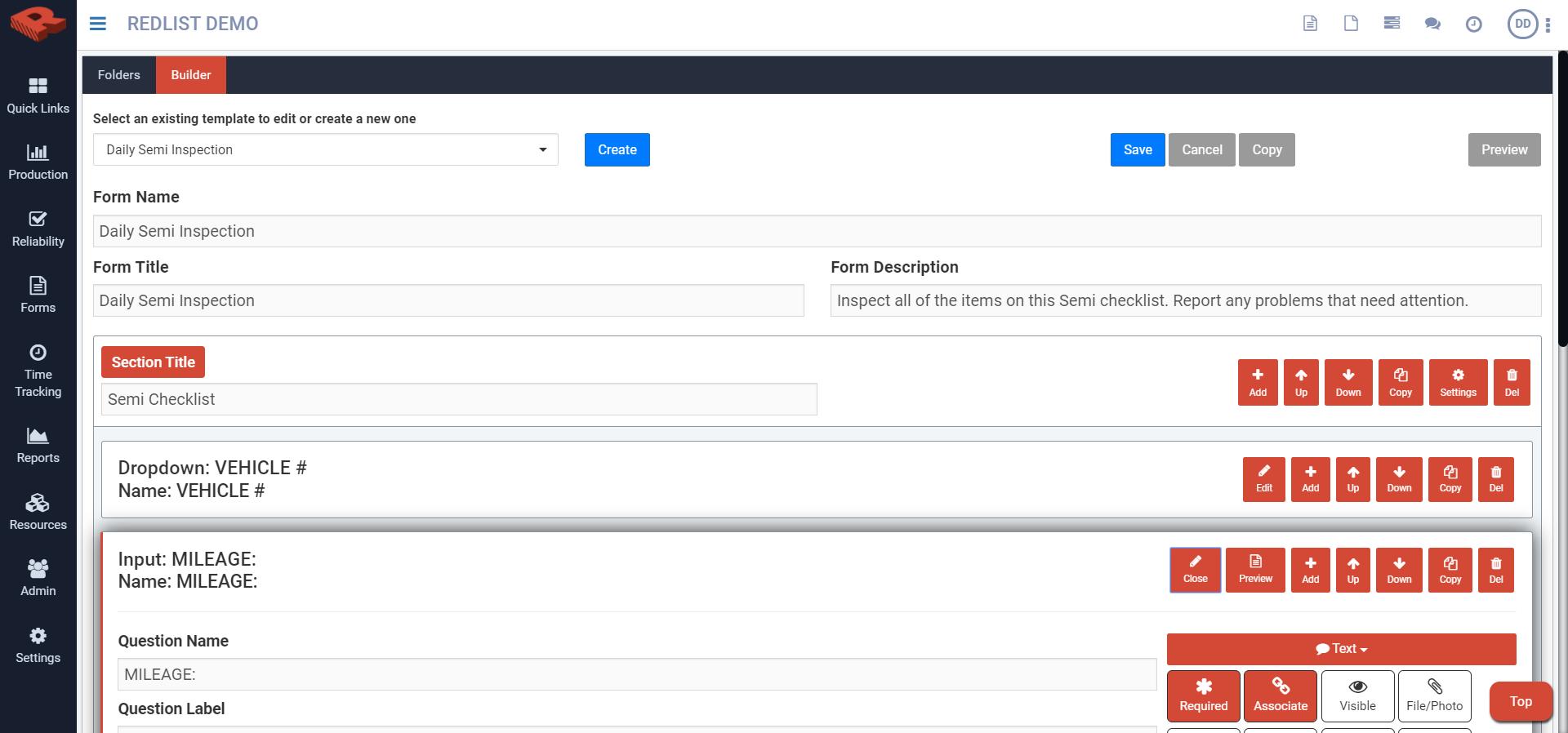 Digital form customization builder - web