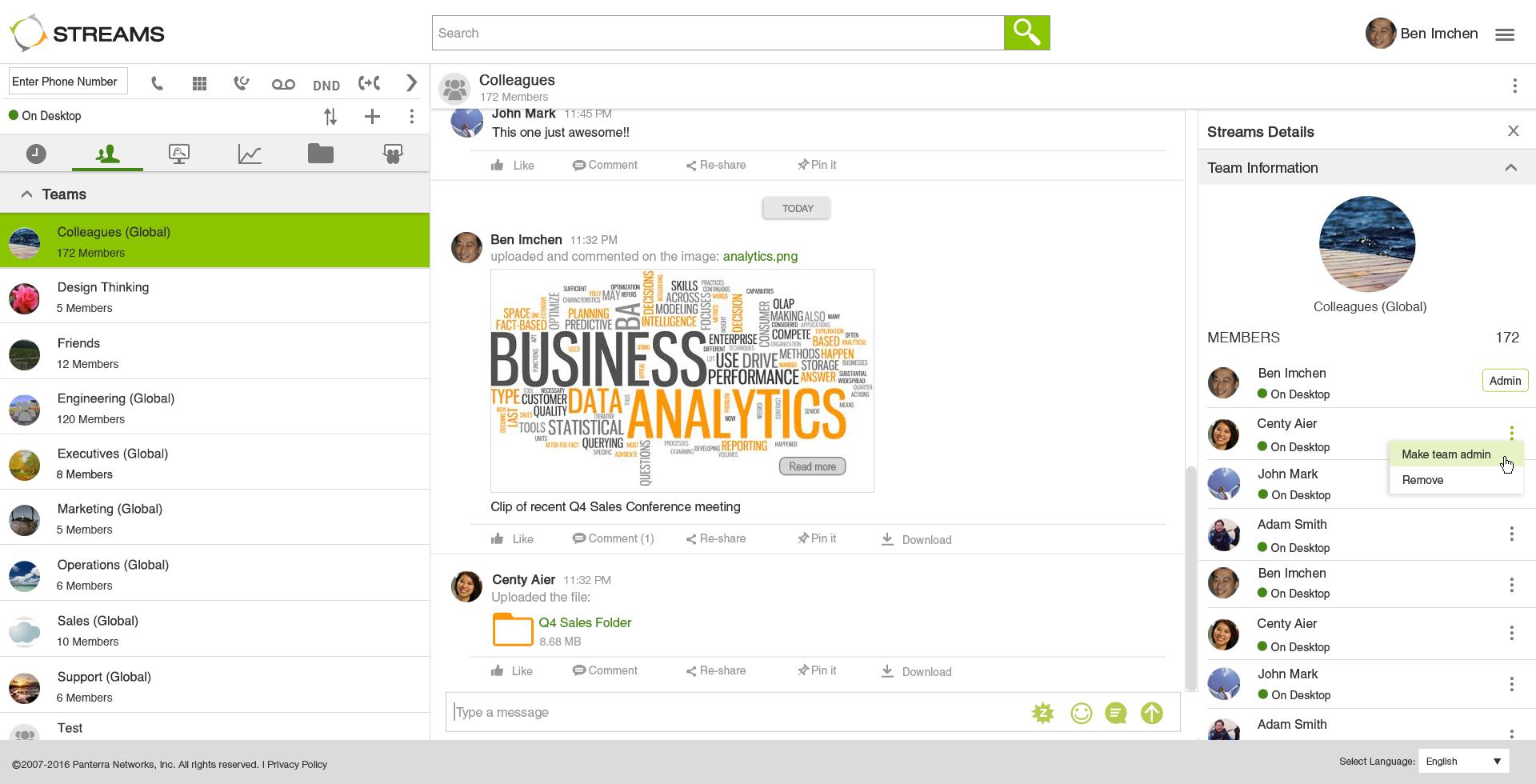 Business Plus Software - Team Streams