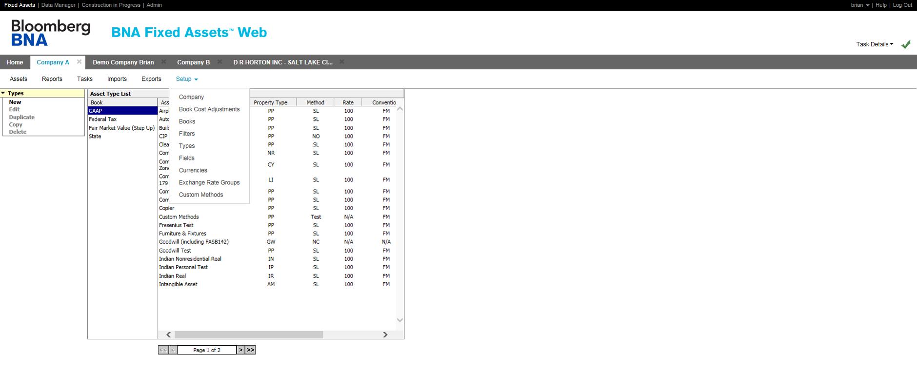Fixed Assets Software - Setup