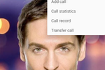 Zoiper screenshot: During calls, users can opt to switch to video, view call statistics with the current contact, record the call or transfer it to another line