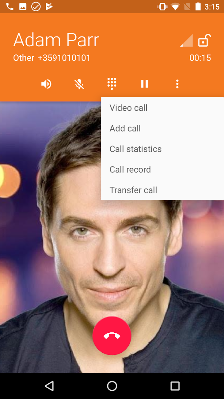 During calls, users can opt to switch to video, view call statistics with the current contact, record the call or transfer it to another line