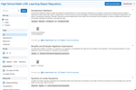 Edsby screenshot: A searchable learning object repository for teachers in the Edsby digital learning platform